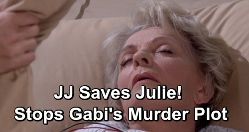 Days of Our Lives Spoilers: Julie's Life Hangs In The Balance - JJ's Accidental Intervention Stops Gabi's Murder Plot