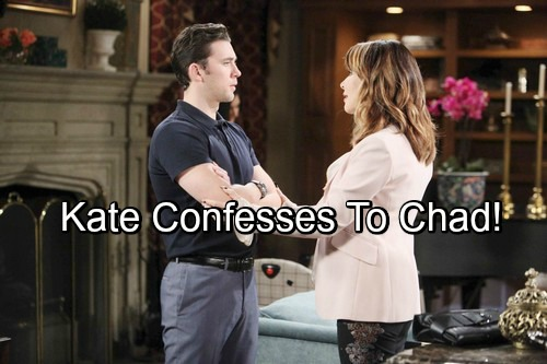 Days of Our Lives Spoilers: Chad Shocked by Kate's Confession – Threatens to Expose Leo Scheme If She Can't Fix Mess