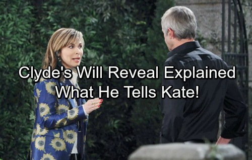 Days of Our Lives Spoilers: Clyde's Shocking Reveal – What He Tells Kate About Will Changes Everything