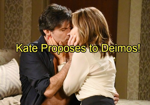 Days of Our Lives (DOOL) Spoilers: Kate Proposes Quickie Wedding – Deimos Accepts But Throws Prenup Curveball