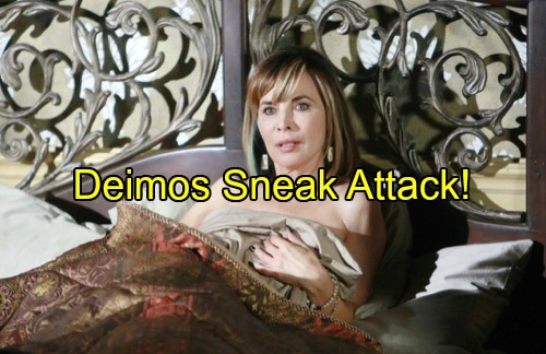 'Days of Our Lives' Spoilers: Kate Shocked by Deimos' Return From The Dead – Sneak Attack Has Kate Begging For Andre's Help