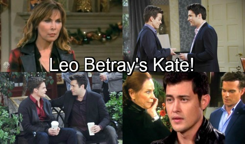 Days of Our Lives Spoilers: Leo Betrays Kate – Sexual Harassment Lawsuit Blows Up In Kate's Face