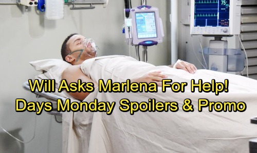 Days of Our Lives Spoilers: Monday, November 27 - Kate Visits Theo – Abe Demands JJ's Firing – Will Begs Marlena for Help