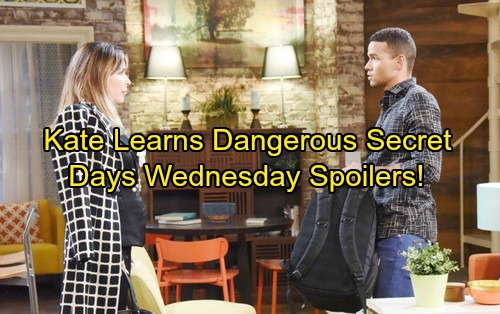 Days of Our Lives Spoilers: Wednesday, November 8 - Eve Turns the Tables – Kate Learns a Dangerous Secret