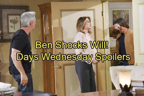 Days of Our Lives Spoilers: Wednesday, November 29 - Ben Sends Chills Down Will's Spine – Hope Explodes at Rafe