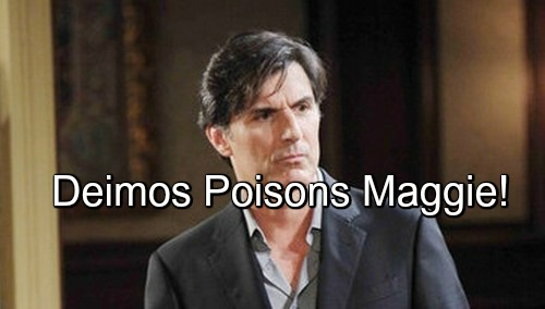 Days of Our Lives (DOOL) Spoilers: Maggie Rushed to Hospital, Medical Emergency – Victor Rages at Deimos for Evil Plot