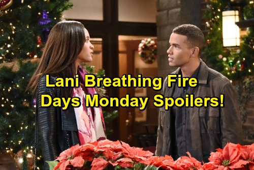 'Days of Our Lives' Spoilers: Lani Returns to Salem, Big Trouble For JJ – Abigail Calls Off Confession – Deimos Gets a Warning