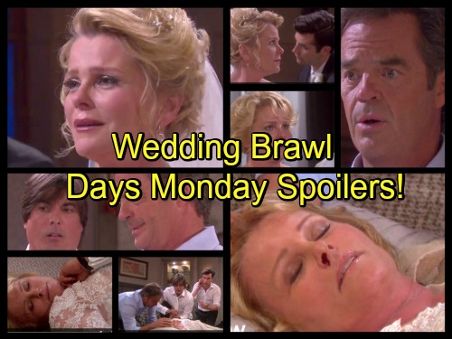 Days of Our Lives Spoilers: Lucas and Justin's Brawl Leads to Wedding Postponement – Abigail Sticks to Plan - Blanca Exits