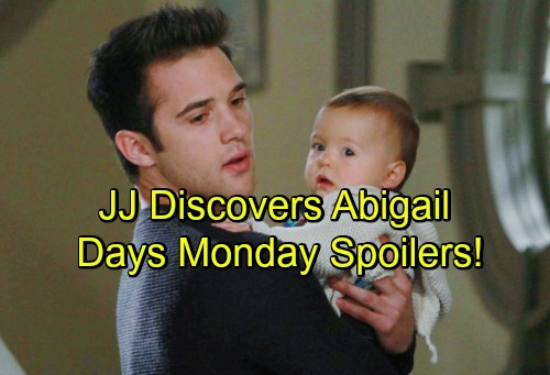 Days of Our Lives Spoilers: JJ Discovers Abby – Hope's Prison Pick-me-up – Bo's Siblings Reflect on Anniversary of Death