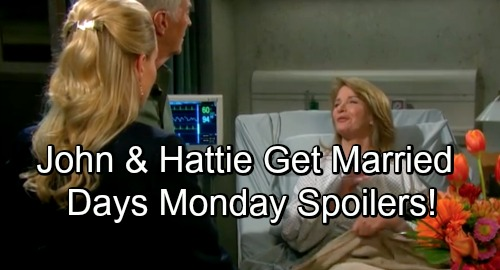 Days of Our Lives Spoilers: Monday, October 1 – Hattie and John Tie the Knot – Marlena Awakens – Kristen's Revenge Goes Awry