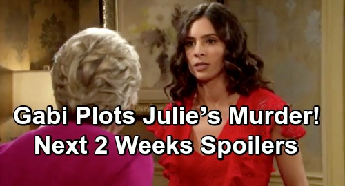 Days of Our Lives Spoilers Next 2 Weeks: Gabi Plots Julie's Murder, Desperate to Keep Paternity Secret – JJ Saves Nurse Haley's Life
