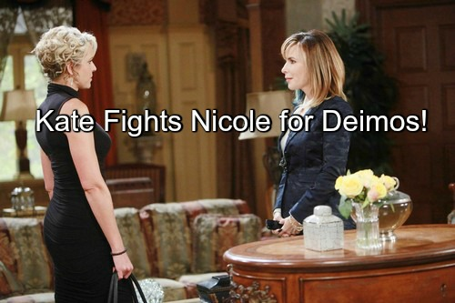 Days of Our Lives (DOOL) Spoilers: Kate and Nicole's Fiery Faceoff Over Deimos' Affection - Nicole Falls in Love for Real