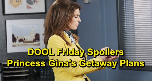 Days of Our Lives Spoilers: Friday, December 13 – Chad Scores Proof for Abigail – Princess Gina's Getaway Plan – Jack Takes Jennifer Home
