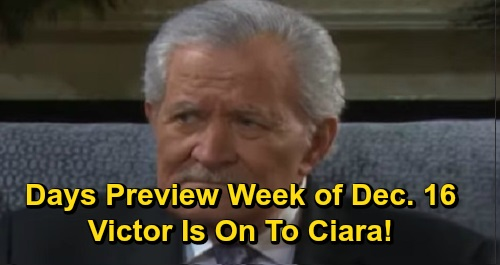 Days of Our Lives Spoilers: Week Of December 16 Preview - Stefano Roams Salem - Kristen Befriends Gabi - Victor's Onto Ciara
