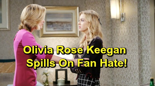 Days of Our Lives Spoilers: Olivia Rose Keegan Opens Up About Negative Fan Feedback