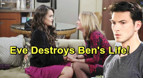 Days of Our Lives Spoilers: Eve Destroys Ben's Life - Uses Power of Mayor Jack's Office For Revenge on Paige's Murderer