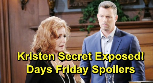 Days of Our Lives Spoilers: Friday, May 31 – Will Learns Death Is Near – Brady Hears Maggie's Kristen Story – Jack's Memory Flash