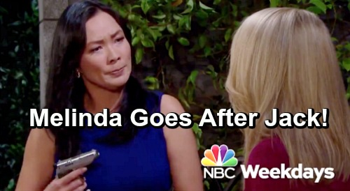 Days of Our Lives Spoilers: Furious Melinda Whips Out Loaded Gun - Goes After Jack For Ruining Haley's Life