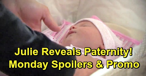 Days of Our Lives Spoilers: Monday, December 24 – Julie Reveals Paternity Truth – Horton Tree-Trimming Party Shocker