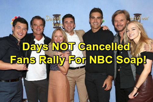 Days of Our Lives Spoilers: DOOL NOT Cancelled for Megyn Kelly – Fans Rally To Save NBC Soap Amid Conflicting Reports