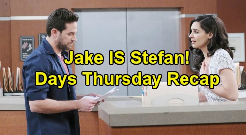 Days of Our Lives Spoilers: Thursday, July 2 Recap - Jake is Stefan - Allie Asks Rafe To Adopt Her Baby
