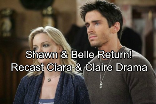 Days of Our Lives Spoilers: Shawn and Belle Back in Time for New Year's Eve Drama – Recast Ciara and Claire at War