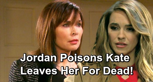 Days of Our Lives Spoilers: Jordan Posions Kate, Leaves Her To Die - Rafe Saves Victim's Life