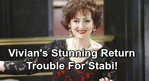 Days of Our Lives Spoilers: Vivian's Return Spells Trouble For Stabi - Stefan's Mom Doesn't Approve of Gabi