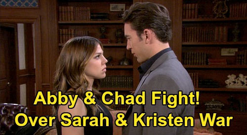 Days of Our Lives Spoilers: Chad & Abigail's Family Fight - Take Opposite Sides Over Sarah & Kristen's Baby War