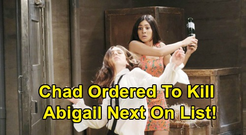 Days of Our Lives Spoilers: Chad Ordered to Kill Abigail, Desperate Wife Fights to Break Stefano Spell – 'Chabby' Murder Mayhem?