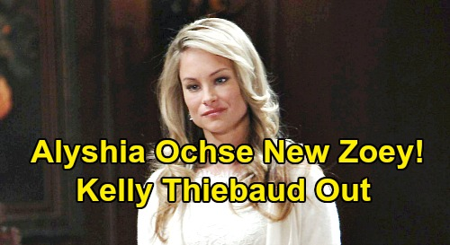 Days of Our Lives Spoilers: Alyshia Ochse In as Zoey, Kelly Thiebaud Out - Evan's Sister Shocker, Lawyer is Orpheus' Daughter