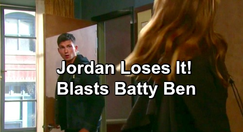 Days of Our Lives Spoilers: Crazy Fire-Setting Kidnapper Jordan Confronts Ben With Shocking Outcome
