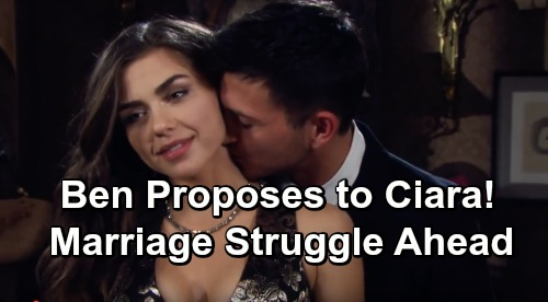 Days of Our Lives Spoilers: Ben Proposes Marriage After Ciara Clears His Name - Cin Wedding Faces Uphill Battle
