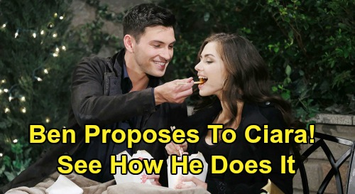 Days of Our Lives Spoilers: Ben's Epic Marriage Proposal, Ready For Ciara Wedding – See How Ben Pops the Question?