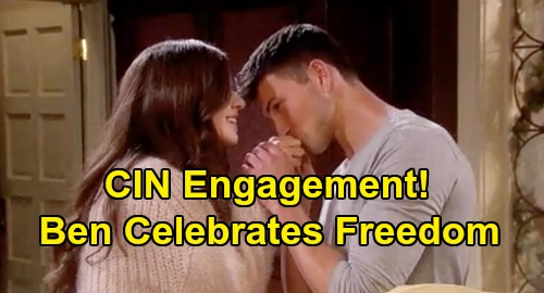 Days of Our Lives Spoilers: Ben Proposes to Ciara, Celebrates Freedom with Engagement Surprise - 'Cin' 2020 Wedding?