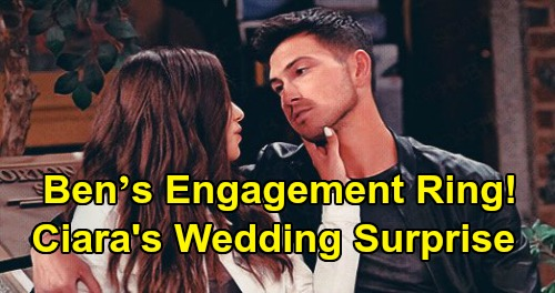 Days of Our Lives Spoilers: Ben's Engagement Ring Surprise for Ciara – New Job Jumpstarts 'Cin' Wedding & Bright Future