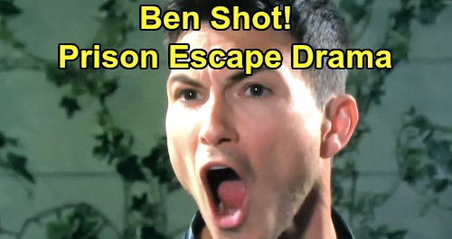 Days of Our Lives Spoilers: Ben Shot During Prison Escape – Captured Clyde Pushes Wounded Son to Flee, Save Himself