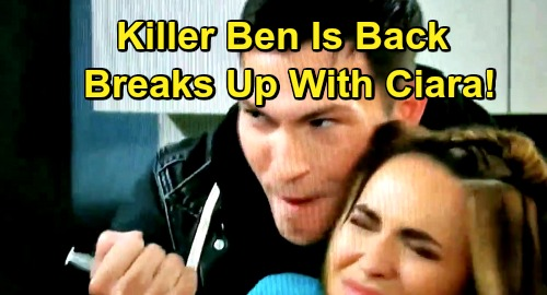 Days of Our Lives Spoilers: Ben Breaks Up With Ciara - Deadly Killer Back Again