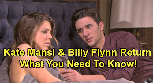 Days of Our Lives Spoilers: Kate Mansi and Billy Flynn Return, Big Casting News – What You Need to Know About Chabby Comeback