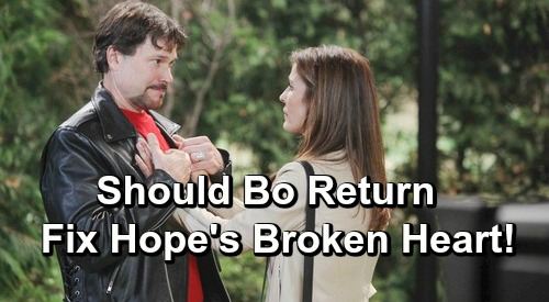 Days of Our Lives Spoilers: Hope Gets Her Heart Broken AGAIN – Should Bo Return and End Romantic Nightmares?