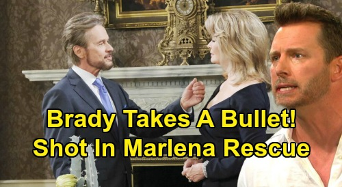Days of Our Lives Spoilers: Brady Shot and Left Bleeding from Gunshot Wound – Takes a Bullet in Marlena Rescue Mission