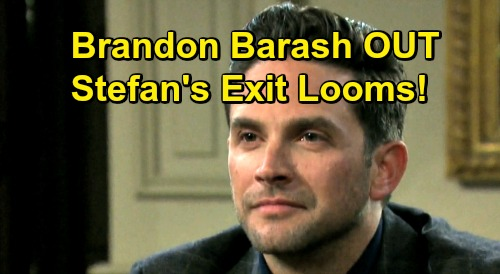 Days of Our Lives Spoilers: Brandon Barash Out, Stefan DiMera's Exit Looms – 'Stabi' Fans React
