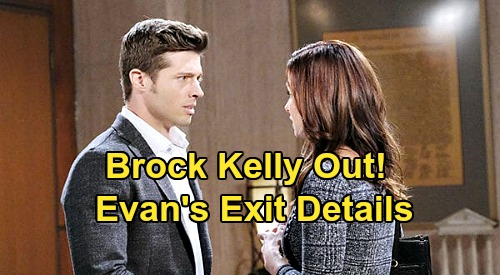 Days of Our Lives Spoilers: Brock Kelly Exits as Evan Frears aka Christian Maddox – DOOL Final Airdate Revealed