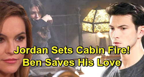 Days of Our Lives Spoilers: Jordan Leaves Ciara to Die in Another Cabin Fire – Ben Battles Blaze to Save Love