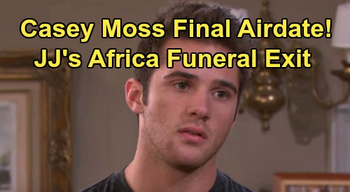 Days of Our Lives Spoilers: Casey Moss' Final Airdate Revealed – JJ Deveraux Exits DOOL for Grandfather Bill Horton's Africa Funeral