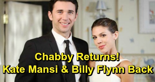 Days of Our Lives Spoilers: Kate Mansi and Billy Flynn Return to DOOL - Welcome Back Chabby