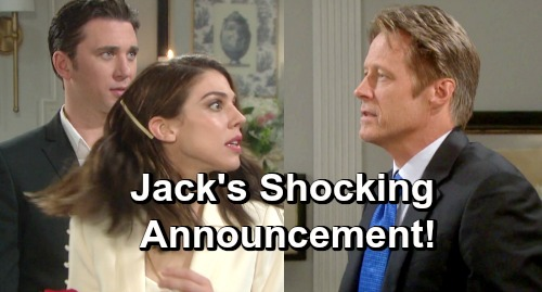 Days of Our Lives Spoilers: Jack Interrupts Chabby Wedding - Makes Shocking Announcement