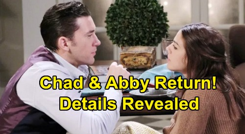 Days of Our Lives Spoilers: Chad and Abigail Return to Salem After Time Jump – What to Expect with 'Chabby' Comeback