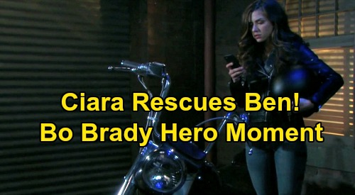 Days of Our Lives Spoilers: Ciara's Motorcycle Rescue for Ben, Bo Brady Hero Moment – Like Father, Like Daughter