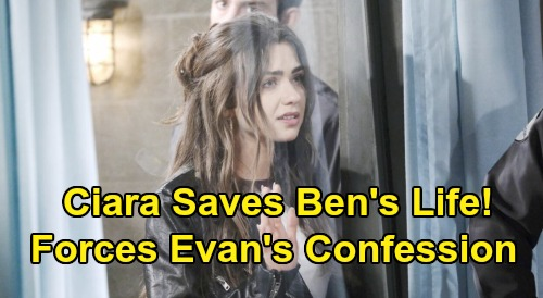 Days of Our Lives Spoilers: Ciara Saves Ben's Life - Forces Evan to Confess at Prison – Fights to Revive Dying Love